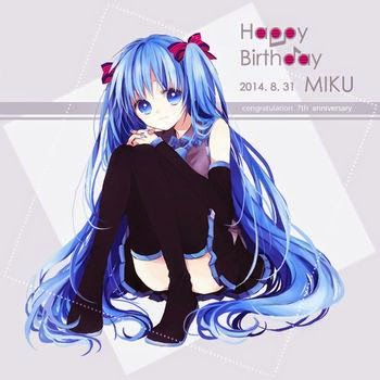 Hatsune Miku Fan Art Happy Birthday