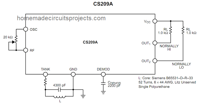 how to make a simple metal detector using ic cs209a rh homemadecircuitsprojects com