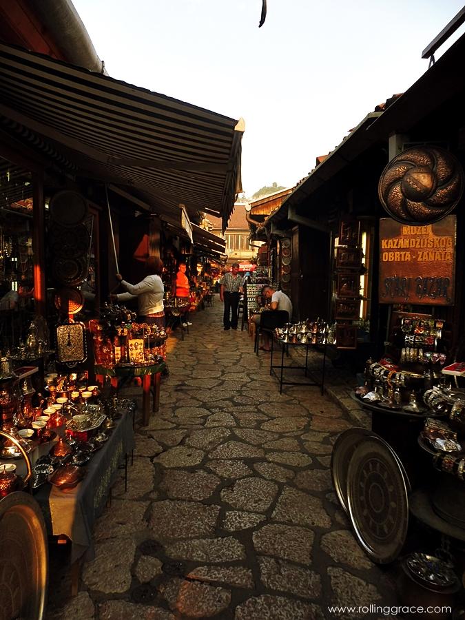 Baščaršija at Sarajevo Old Town