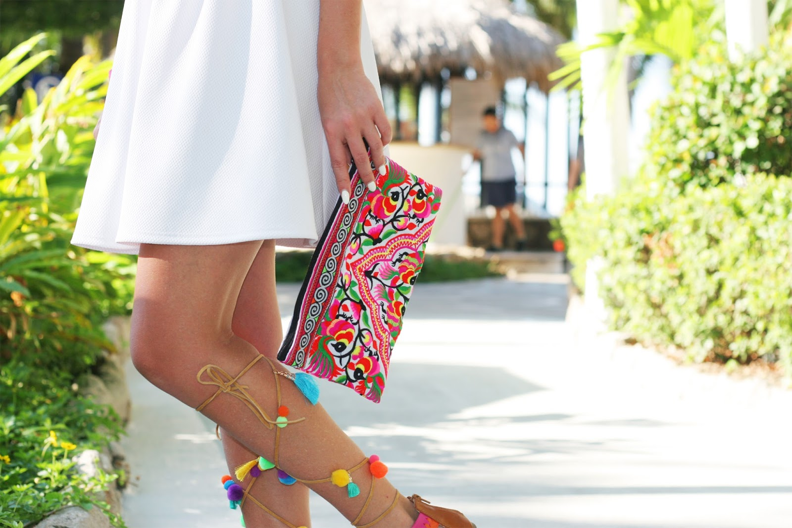 Top-summer-accessories-lace-up-pom-pom-gladiator-sandals