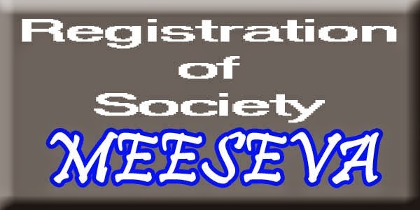 Registration of Society Apply Meeseva