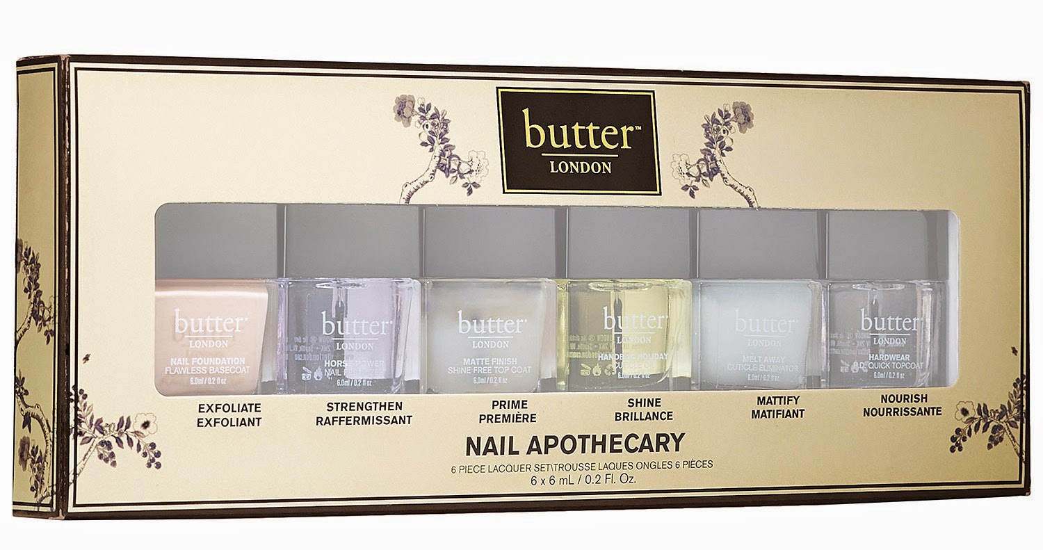 The Polish Jinx Butter London Nail Apothecary 6 Piece Lacquer Set