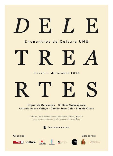 """Programación de """"DeLetreArtes"""" para octubre y noviembre 2016."""