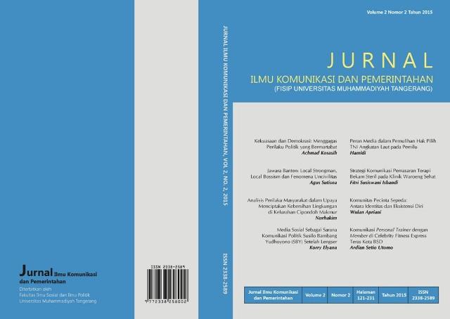 Jurnal Ilmu Komunikasi dan Pemerintahan Volume 2 Nomor 2