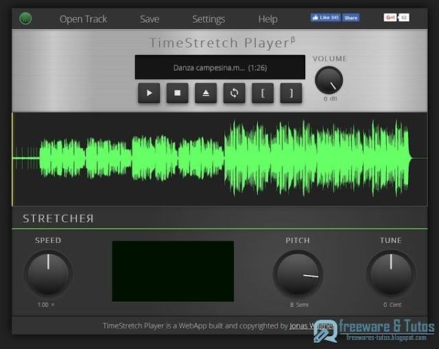 TimeStretch Player : un outil en ligne pour modifier facilement vos fichiers audio