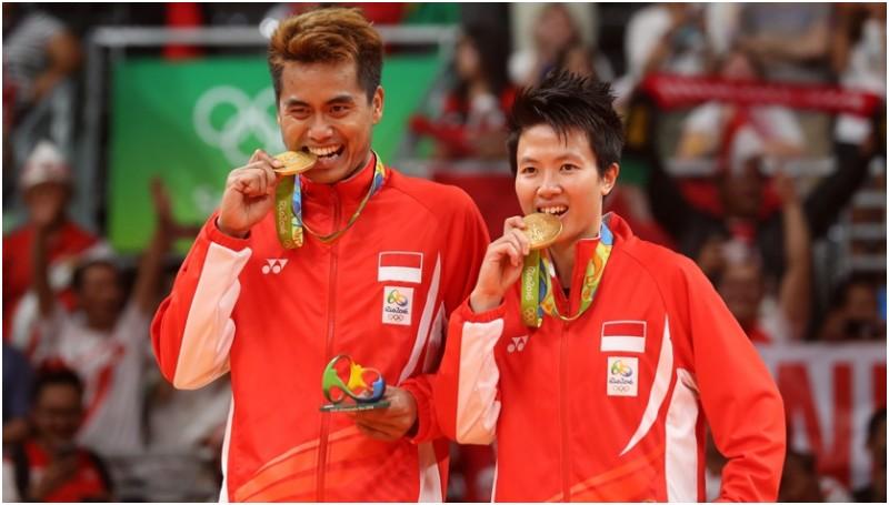 Tontowi Ahmad dan Liliyana Natsir meraih emas Olimpiade 2016