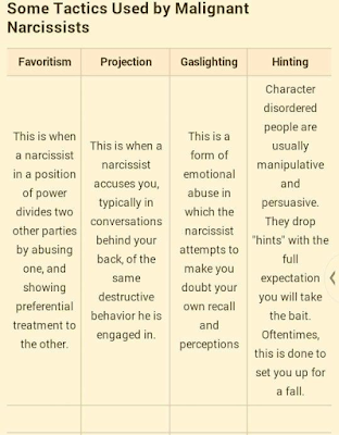 Narcissist tactics