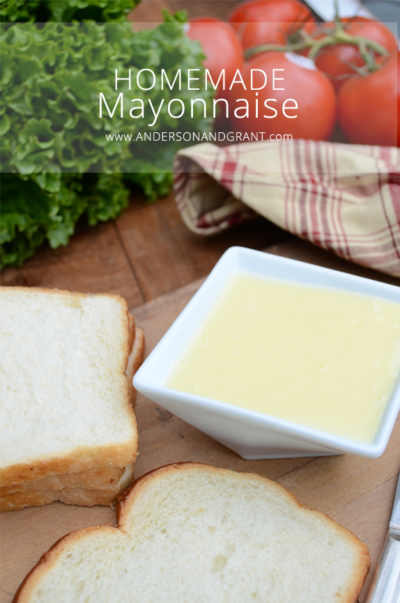 Homemade mayonnaise and white bread