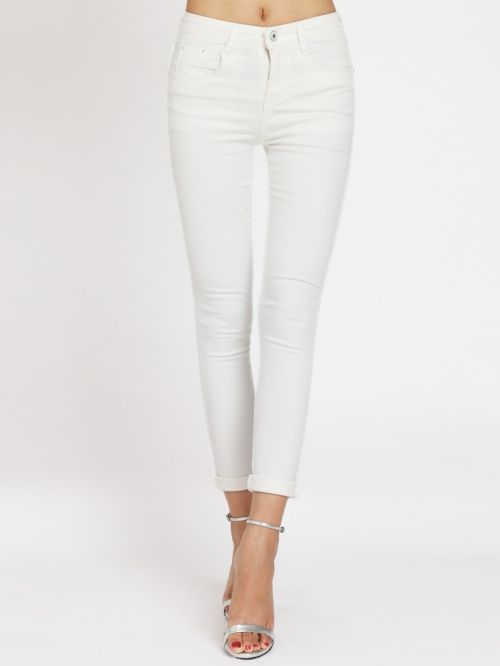 Skinny women's white jeans