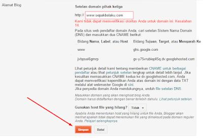 TUTORIAL Mengganti Domain Blog dengan Domain Sendiri 52