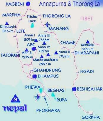 annapurna region map