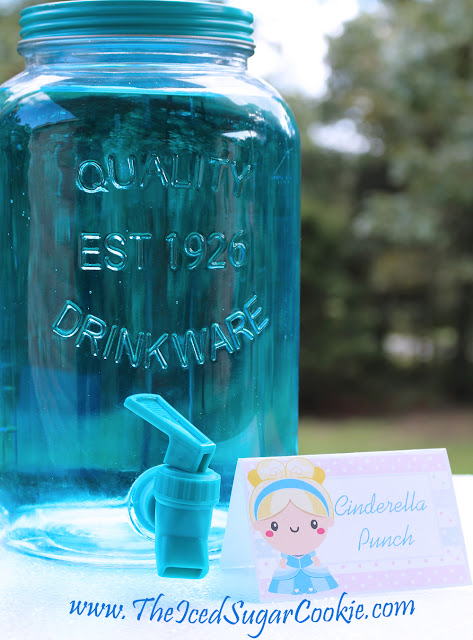 DIY Cinderella Birthday Party Idea by The Iced Sugar Cookie