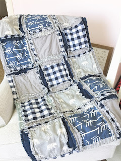 beautiful bear, plaid, and teepee crib bedding in navy and gray
