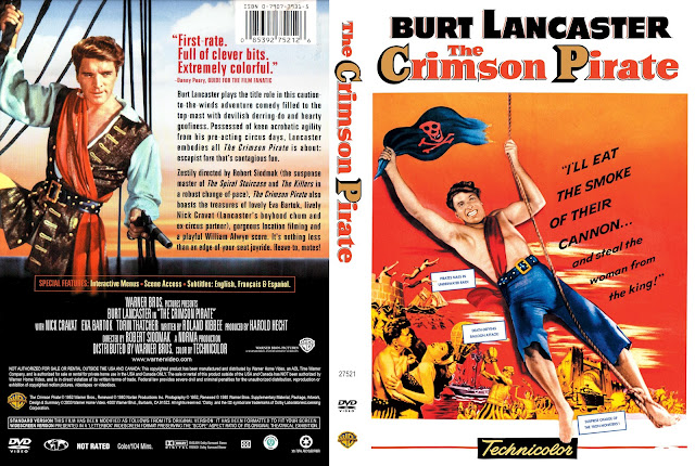The Crimson Pirate DVD Cover