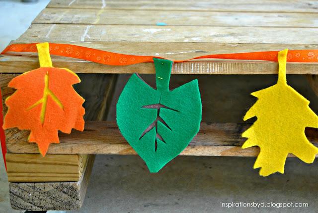 how to make felt leaf garland