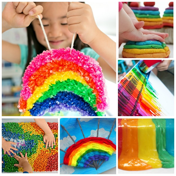 RAINBOW CRAFTS & ACTIVITIES FOR KIDS(Great ideas here!) #artsandcraftsforkids