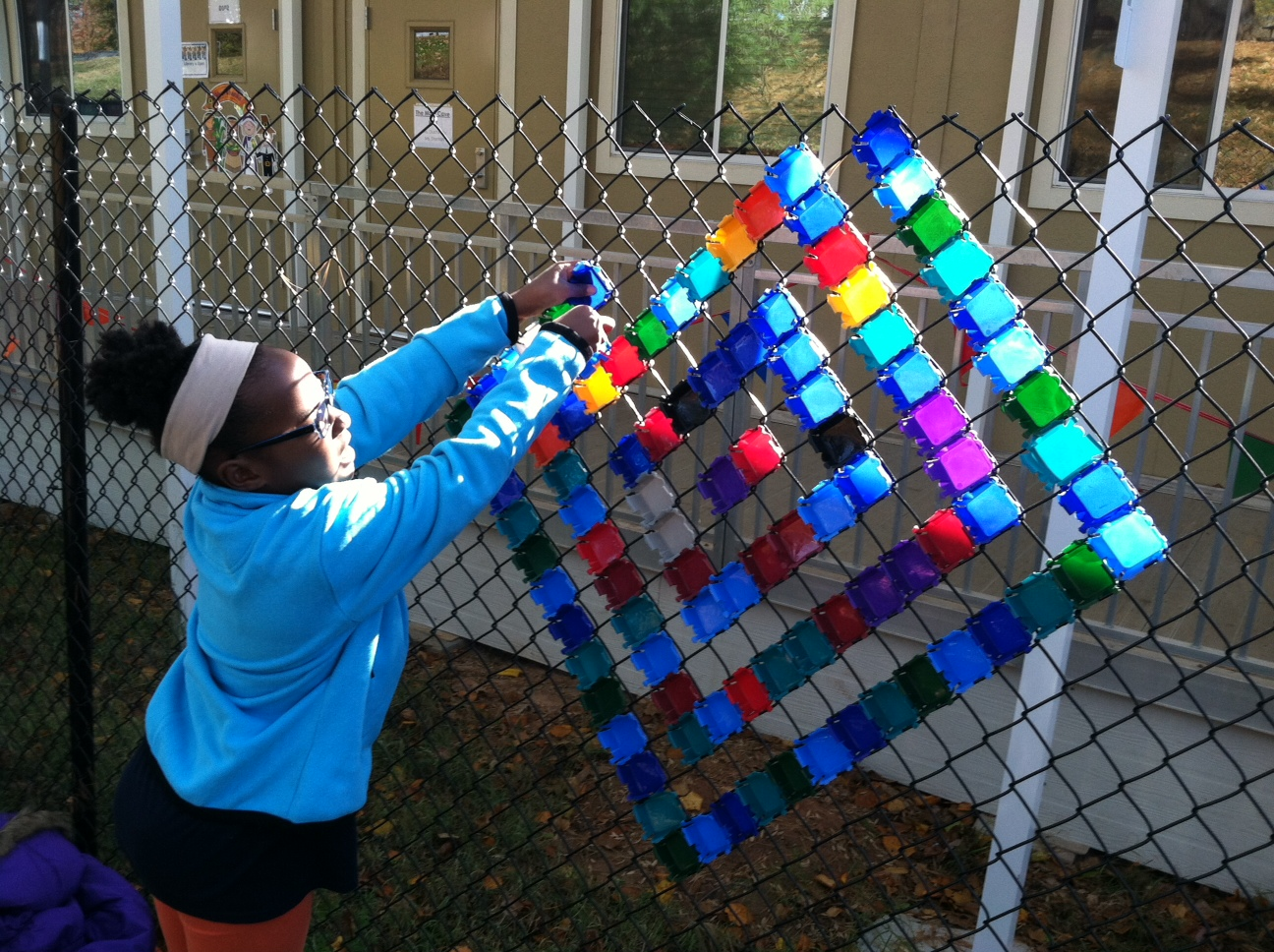 Lafayette Art With Laurie Miles Of Chain Link Fence