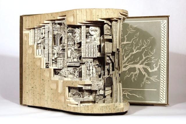 Скульптуры из книг. Brian Dettmer 16