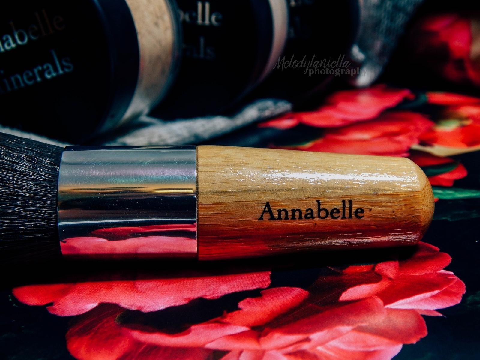 annabelle minerals kosmetyki mineralne zestaw matujący korektor podkład róż gratis pędzel jak używać kosmetyków mineralnych recenzja melodylaniella pędzel