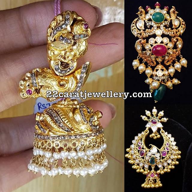 Jhumka Pendant and Chandbalis