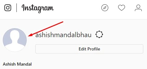 how to chenge instagram profile pic
