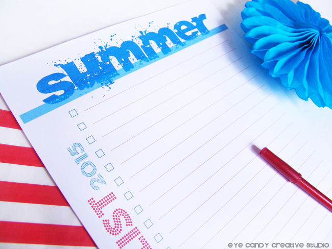 bucket list 2015, summertime list, red pen, red stripes, schools out