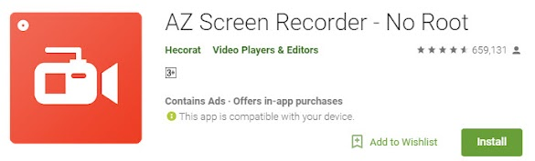 Cara Merekam Layar Hp  Android & Video Call Whatsapp (Wa) Tanpa Root Dengan Az Video Recorder