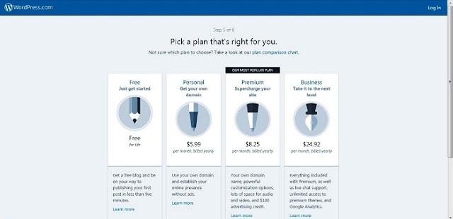 memilih perencanaan pembayaran wordpress