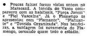 Torcidas do Vasco  FORÇA JOVEM E TOV 1972  POUCAS FAIXAS 6547491524f87