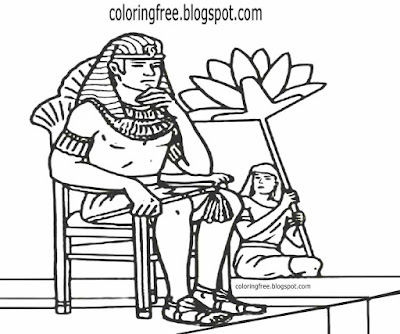 Clipart Egypt valley temple slave worker Egyptian pharaoh kings coloring in page for older teenagers