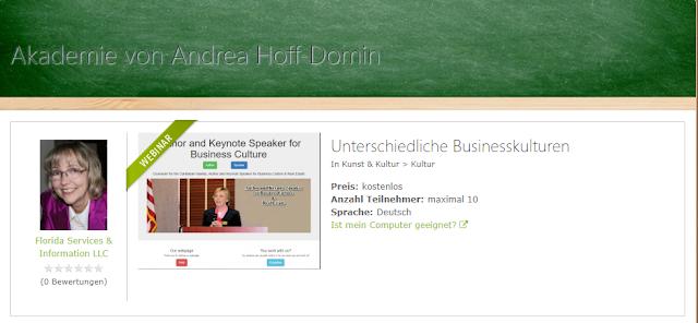 Webinar - unterschiedliche Businesskulturen