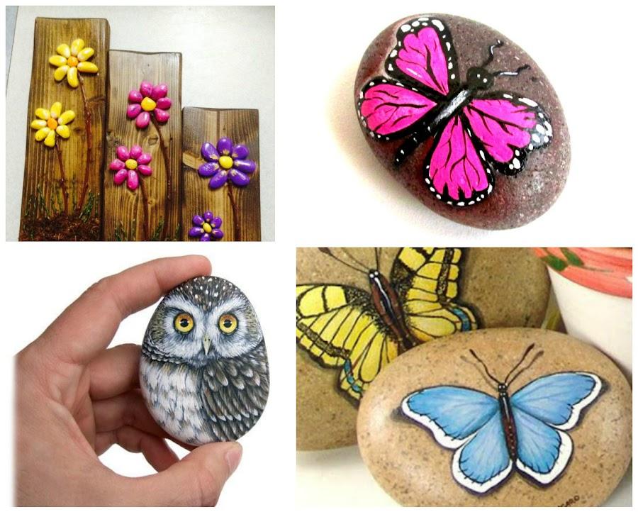 Pintar mariposas en madera for Pintura para pintar piedras