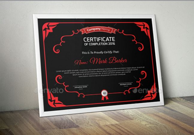 21 Awesome Certificate Templates in PSD MS Word Vector EPS Formats     4  Certificate Template in Vector EPS