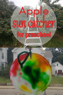 Apple sun catcher for preschool