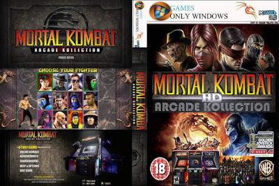 Mortal Kombat Arcade Kollection PC DVD Capa