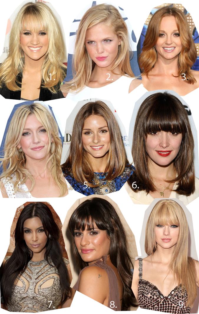 hiusmallit: puolipitkät hiukset