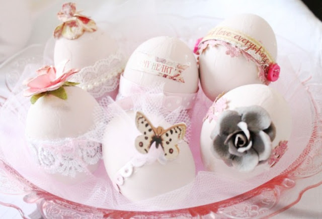 feminine easter egg decorations