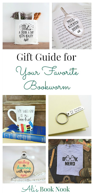 Gift Guide for Your Favorite Bookworm jewelry bag mug shirt