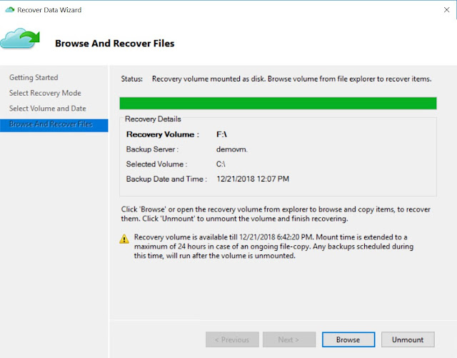 Browse And Recover Files