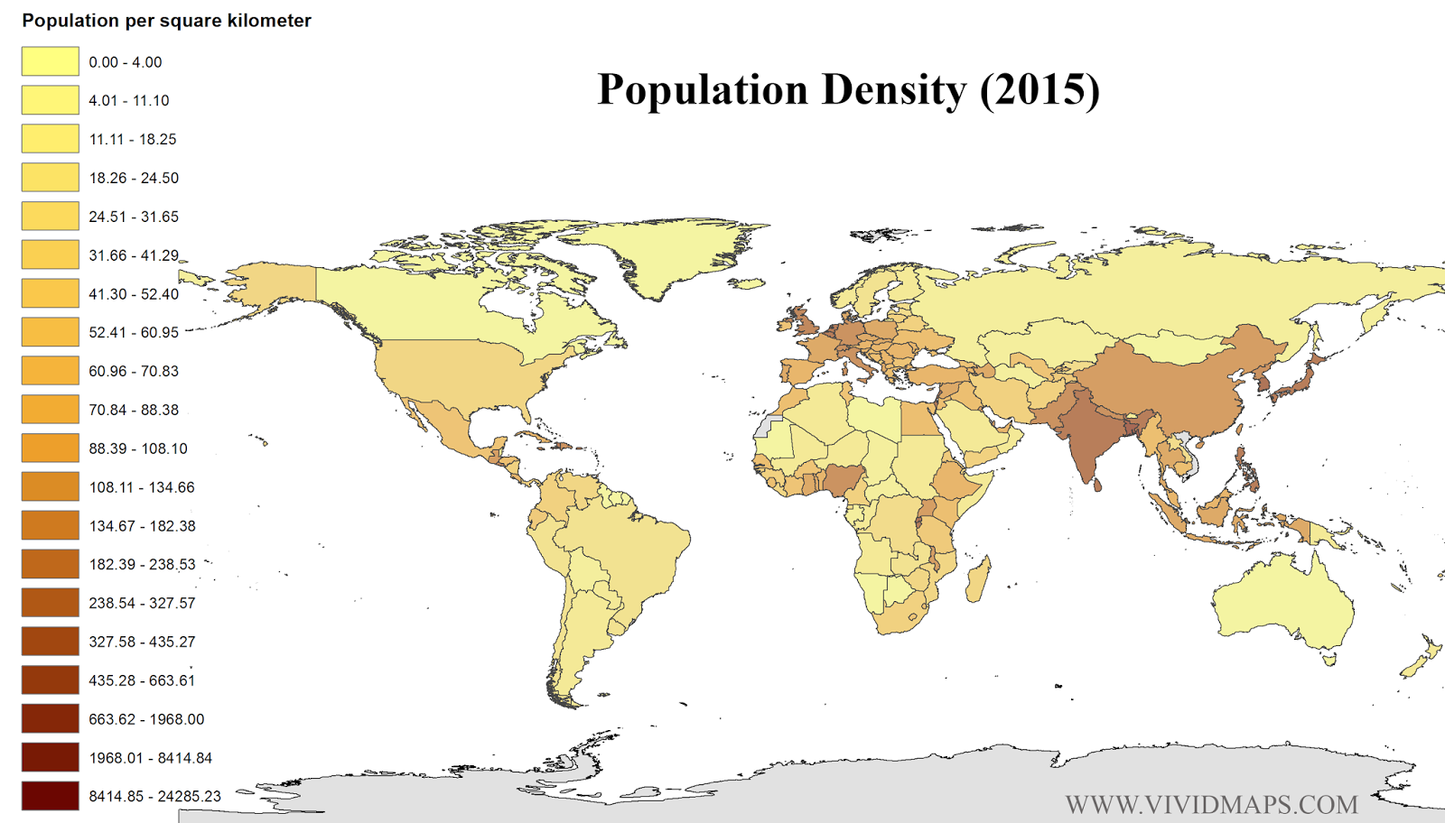 Population Density (2015)