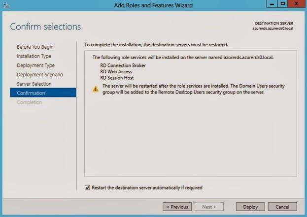 Microsoft Dynamics AX 2012 in Windows Azure (IaaS) – RDS