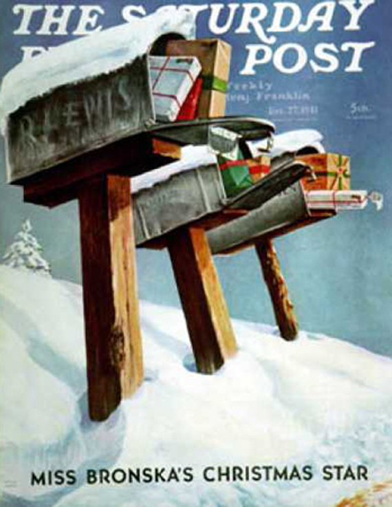 Christmas Saturday Evening Post vintage covers, MIriam Tona
