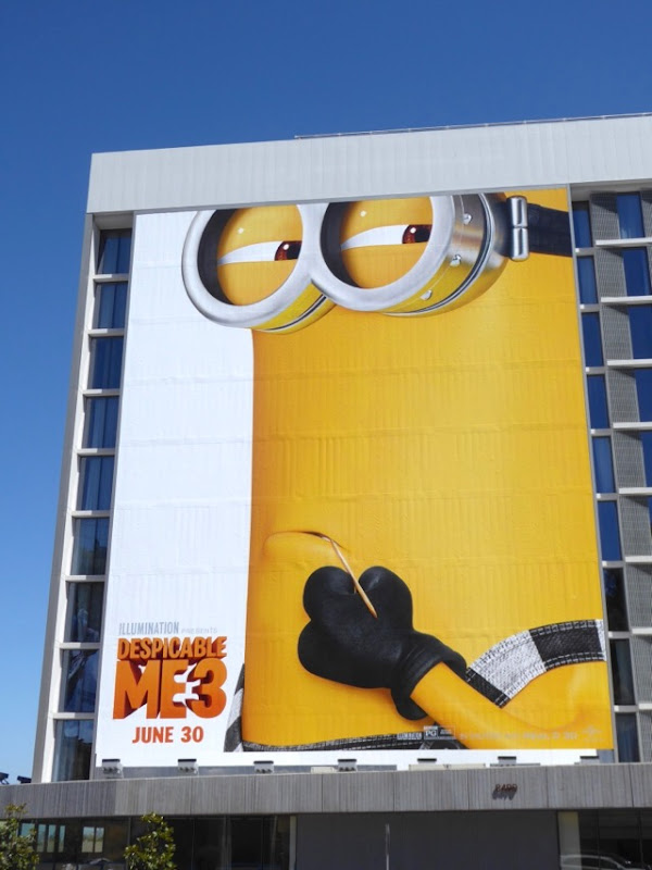 Giant Despicable Me 3 billboard