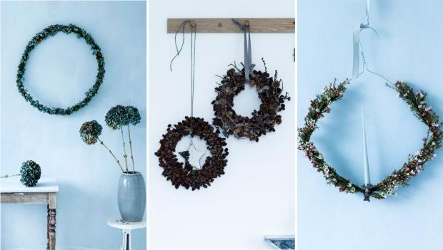 DIY: como decorar y hacer una CORONA DE FLORES silvestres con una percha