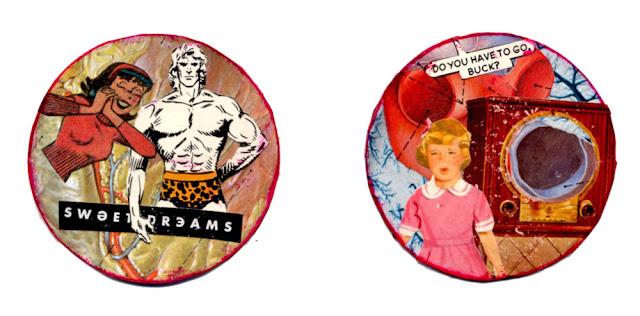 collage coins by C. Mazzie-Ballheim