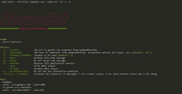 ReconCat - Strumento per recuperare screenshot con url archiviati da Archive.org