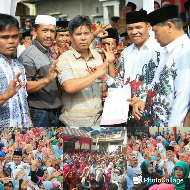 Ribuan Massa Ikrarkan Dukungan untuk Zainal Arsal di Lempur