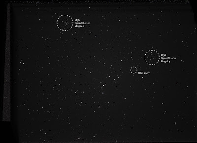 M36 and M38 open cluster in Auriga