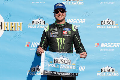 Pole sitter, Kurt Busch lead 94 total laps and finished P8.