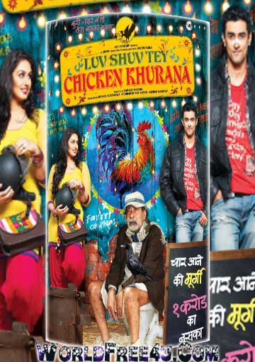 Poster Of Bollywood Movie Luv Shuv Tey Chicken Khurana (2012) 300MB Compressed Small Size Pc Movie Free Download worldfree4u.com